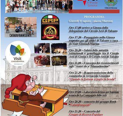 """8 agosto 2016 – conferenza stampa per la presentazione delle due giornate conclusive della festa """"TERRE DE U' MUNACHICCHIE"""""""